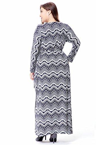 Abiti da sera long-sleeved da donna musulmana Abbigliamento islamico Dubai Kaftan Caftan Plus Size Maxi / Long CasualAbaya Abito etnico turco blu zaffiro