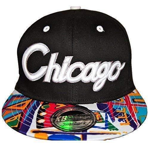 KB Ethos Aztèque Chicago Casquette, Team Visière Plate Hip Hop Street Urban Bling Bord Chapeaux