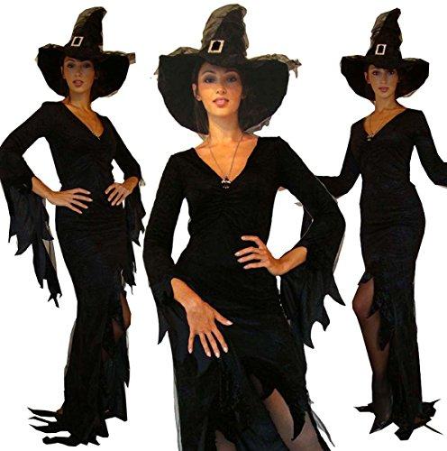 Costume per travestimento gotico da strega, taglia: 42/44 (M)