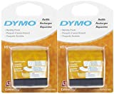Dymo Letratag Refill Tape, 1/2 x 13'-Black-2 ct, 2 pk by DYMO