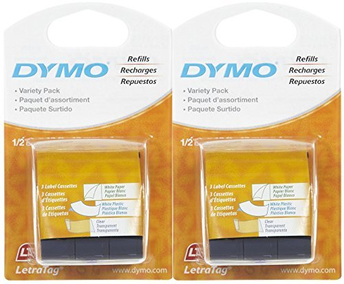 DYMO 10697 Self-Adhesive Paper Tape for LetraTag Label Makers by DYMO LetraTag