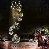 GBYZHMH Duplex Lange Treppe Kronleuchter Kronleuchter kristall Lampen Fashion Hotel Projekt Lichter Villa Lobby Hängelampen (Größe: 80 * 220 cm)