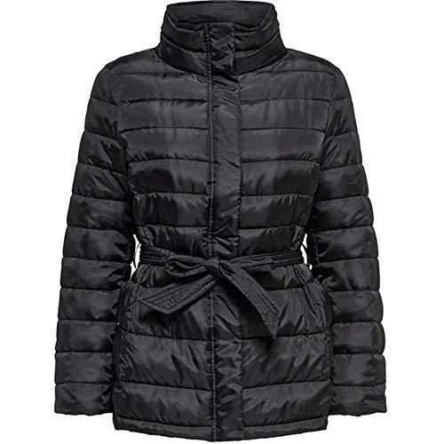 JACQUELINE de YONG Damen Jacke Jacke GIUBBOTTE, Schwarz, Large