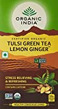 #1: Organic India Tulsi Green Tea, Lemon Ginger, 25 Tea Bags