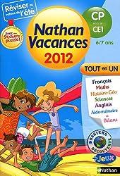 Nathan vacances du CP vers le CE1