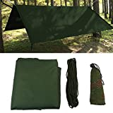 VGEBY Wasserdicht Zeltplane mit Öse für Camping und Outdoor mit Tragetasche