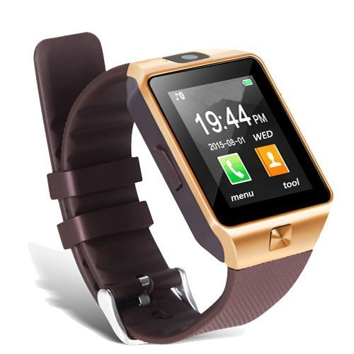 ESTAR Bluetooth Smartwatch with SIM Card Support | Micro SD card Support | Facebook | Whatsapp | Activity Tracker | Fitness Band | Music | Camera with Video Recording | Better Display | Loud Speaker | Microphone | Touch Screen | Multi-Language Compatible with Micromax Canvas Fire 4G Plus and All Other Smartphones - Golden YU Yureka Plus  available at amazon for Rs.1199