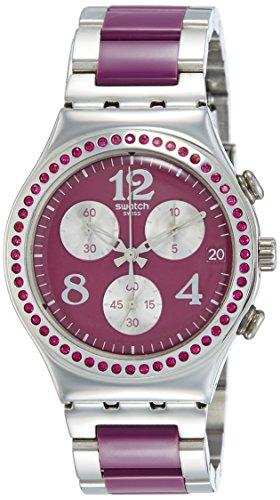 Swatch YCS555G - Reloj analógico de cuarzo para mujer, correa de acero inoxidable multicolor