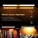 Techzere Rechargeable Motion Sensor PIR 10 LED Night Light. Stick to Wall or Any Surface. Can be Used at Closets, Bathroom, Wardrobe, Drawer, Corridor, Staircase Etc (Warm White Light, Pack of 1)