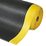 etm® Anti-fatigue Mat, Diamond Structure, Black & Yellow - 60 x 90cm |