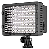 NEEWER 160 LED CN-160 Dimmable Ultra High Power Panel Digital Camera/Camcorder Video Light, LED Light for Canon, Nikon, Pentax, Panasonic,Sony, Samsung and Olympus Digital SLR Cameras