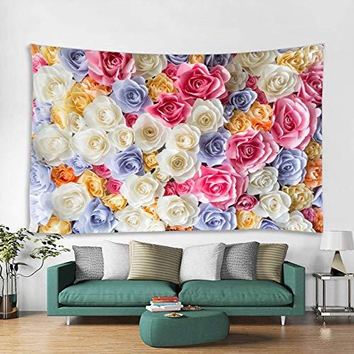 VCTQR Tapisserie Romantische rosa Polyester-Chakra-Kunst der eleganten Blume der Farbe 3D hochwertige Campingzelt-Reisematratze