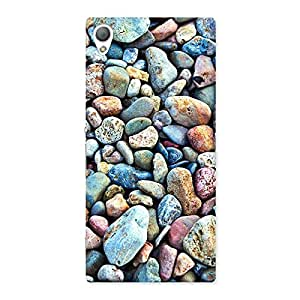 Delighted Water Pebbels Multicolor Back Case Cover for Sony Xperia Z3
