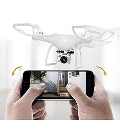 Hot Sale Drone,2.4G 4CH 6-Axis Gyro Hovering RC Quadcopter with 720P HD WIFI Camera Drone FPV for Kids Adults Beginners - Headless Mode, 3D Flip,One Key Return