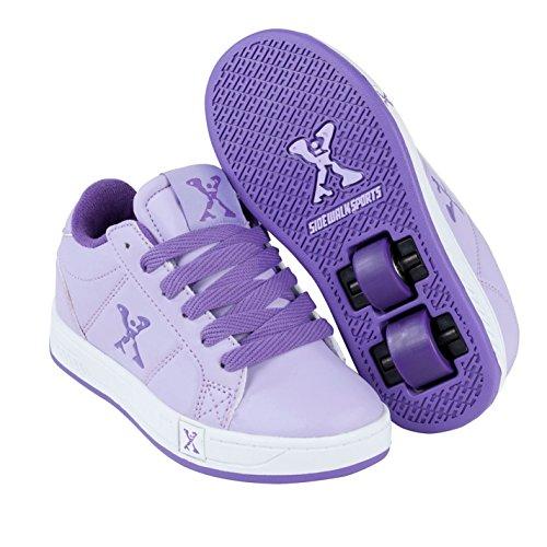 Sidewalk Sport Kinder Mädchen Lane Heelys Rollenschuhe Sneaker Mit Rollen Schuhe, Lilac/Purple, 6 - Rollen Tennis-schuhe Mit