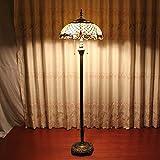 TOYM 16-Zoll-Flaky Europäischen retro Wohnzimmer farbigem Glas Tiffany-Glas-Stehlampe Persönlichkeit Export