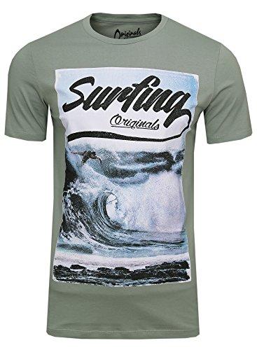 JACK & JONES -  T-shirt - Maniche corte  - Uomo Set ( 4er - Slim Fit )