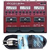 Zoom B3n Multi-Effektgerät für Bass + KEEPDRUM Instrumentenkabel 3m