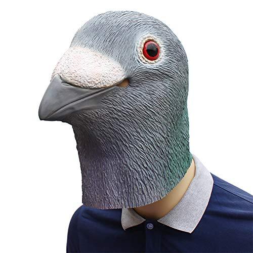 Story of life Tauben Maske, Latex Halloween Tier Tauben Masken Kostüm Party Maske Für Erwachsene,Gray