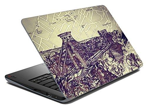 Sketch Ponte notebook Laptop Skin Sticker Cover decalcomania di arte Adatto 14,1 pollici a 15,6 pollici