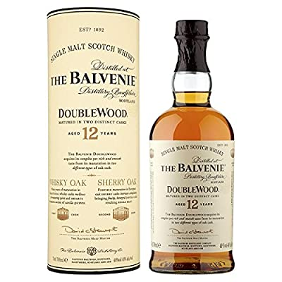 The Balvenie DoubleWood Aged 12 Years Single Malt Scotch Whisky 70cl (Pack of 70cl)