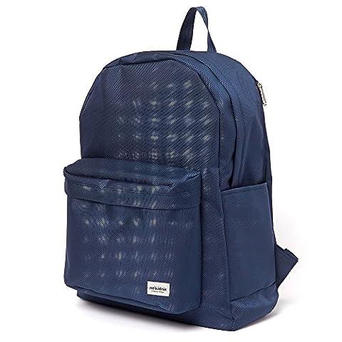 Fashion School Backpack Bookbag 1680d Ballistic Backpack (NAVY)