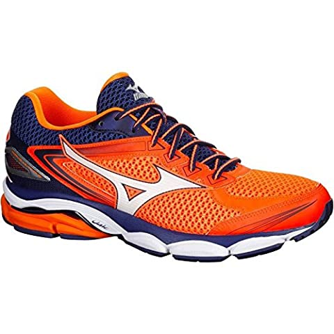 Mizuno Wave Ultima 8 - buty sportowe męskie (pomarańczowo-biało-czarne)-43