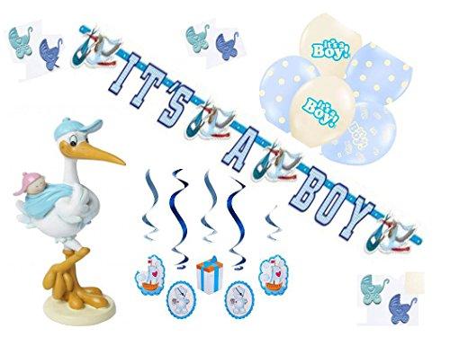 Partydekoset Babyparty Junge blau 14teilig Pullerparty Baby Geburt
