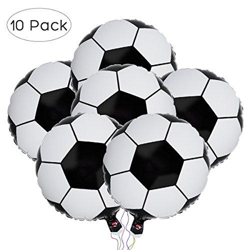 BESTOYARD Aluminiumfolie Luftballon Fußball Ballon WM Party Ballons Geburtstags Feiern Fußball Thema Party Dekoration 18 Zoll 10 Stück