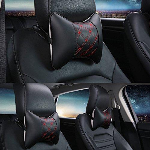 Foto de Sedeta® Apoyo para la cabeza del asiento de coche del amortiguador del cojín de espuma de memoria almohadilla del recorrido del cuello de la ayuda del resto almohadas de coches para niños pequeños alm
