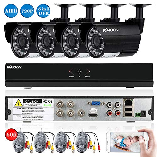 KKmoon Kit Seguridad CCTV 4CH Full AHD 1080N/720P