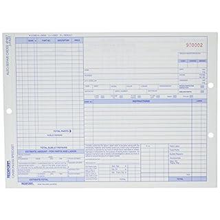 Rediform Auto Repair Polypack, selbstdurchschreibend, 3teil, 21,6x 27,9cm, 50Formen (4p487)