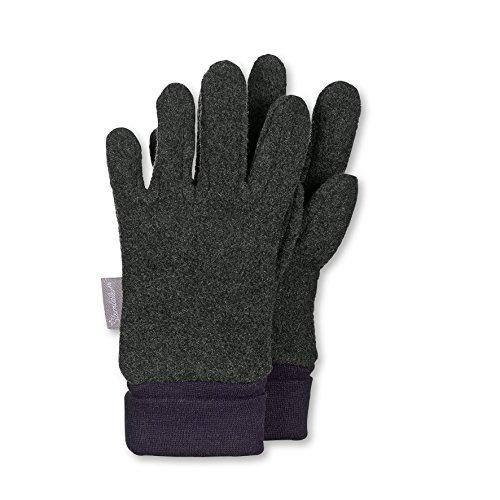Sterntaler Jungen Handschuhe Fingerhandschuh, Grau (Anthrazit Melange 592), 5