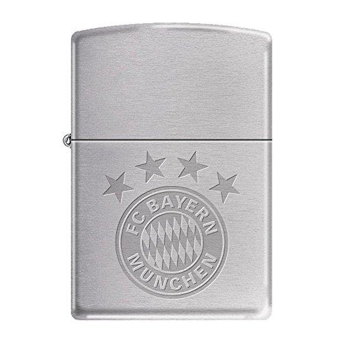 Zippo Feuerzeug FC Bayern München Chrome brushed (Hochwertige Zippo-feuerzeug)