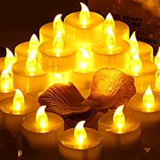 Conmemorativa LED Velas con temporizador, meiso 24unidades LED teelichter con temporizador, 6horas a y 18horas de, Eléctrico flackernde batteriebetriebene velas, luz ámbar