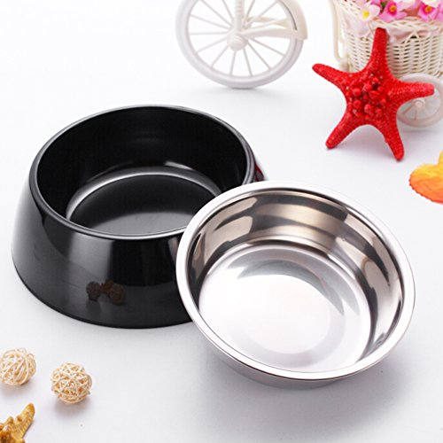 Zellar-Melamine-Pet-Bowl-Removable-Stainless-Steel-Food-and-Water-Bowl-in-Round-Melamine-Stand-with-Non-Skid-Rubber-Bottom-Easy-to-Clean-Dishwasher-Safe-for-Dogs-and-Cats