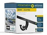 Weltmann 7B020025 BMW X3 (F25) - Starre Anhängerkupplung inkl. fahrzeugspezifischem 13-poligen Elektrosatz