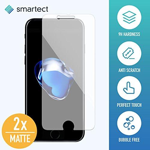 [2x MAT] Protection d'Écran en Verre Trempé pour iPhone 7 / 8 de smartect® | Film Protecteur Ultra-Fin de 0,3mm | Vitre Robuste avec 9H de Dureté et Revêtement Anti-Traces de Doigts
