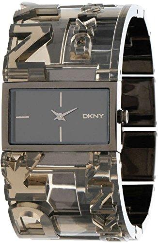 DKNY NY8153–Armbanduhr Damen, Armband aus Edelstahl Farbe Schwarz