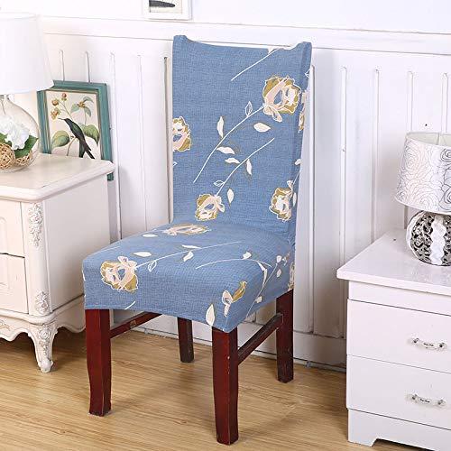 1/2/4/6 Stücke Blumendruck Esszimmerstuhlbezüge Elastische Abnehmbare Hotel Bankett Slipcovers Color 1 6pcs Chair Covers