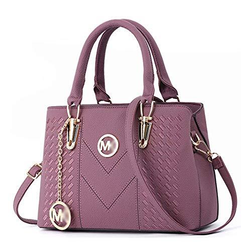 Alidear Pu Cool Damen Handtaschen, Hobo-Bags, Schultertaschen, Beutel, Beuteltaschen, Trend-Bags, Velours, Veloursleder, Wildleder, Tasche Lila -