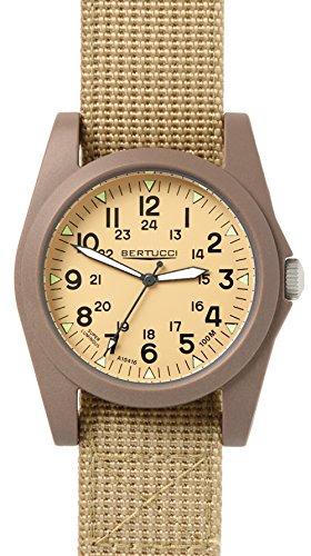 Bertucci 13361Unisex Policarbonato Patrol Khaki Nylon Band Patrol Khaki Dial Smart Watch