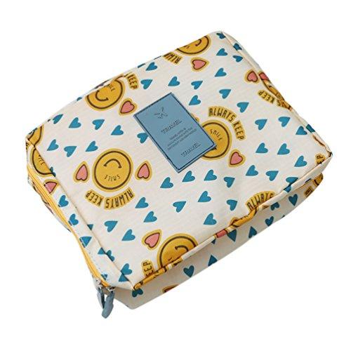 Albeey Kleidertaschen Kofferorganizer Reise Packtaschen Toilettenartikel Kosmetiktasche Organizer (Emoji)