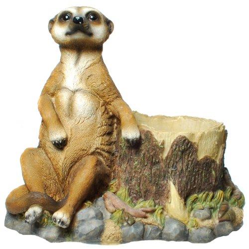 Erdmännchen Figur(E6) Gartenfigur Tierfigur NEU 6 Modelle zur Wahl Wetterfest Gartenzwerg Deko Polystone