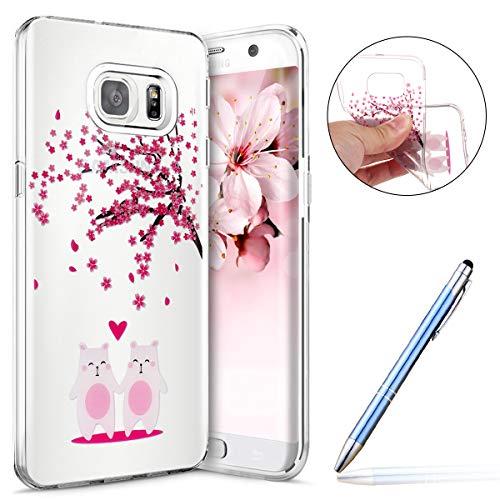 Robinsoni Cover Compatibile con Samsung Galaxy S6 Edge Cover Silicone Galaxy S6 Edge Case Trasparente Custodia Goa Morbido Flessibile Cover Antiurto