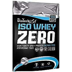 BioTech Isowhey Zero Lactose Free, Proteínas con sabor de Avellana, 500 gr