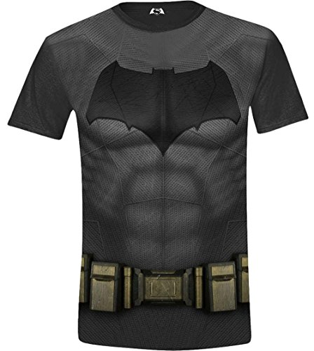 Batman Kostüm T-Shirt Mehrfarbig (Sublimation) Medium (Größe Hersteller: M) ()