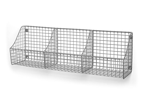 Spectrum Diversified Wall Mount Triple Storage Basket, Satin Nickel - Nickel Triple