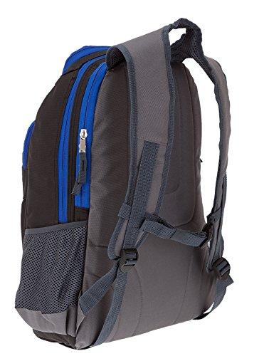 4 Teile SET: ELEPHANT HERO 2 Rucksack GEAR + Sporttasche + Mäppchen Zipper + Regenschutz 12365 (Plaid Black) - 5
