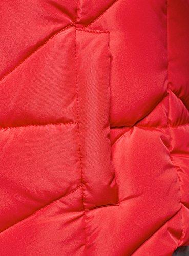 oodji Ultra Damen Steppweste mit Kapuze Rot (4D00N)